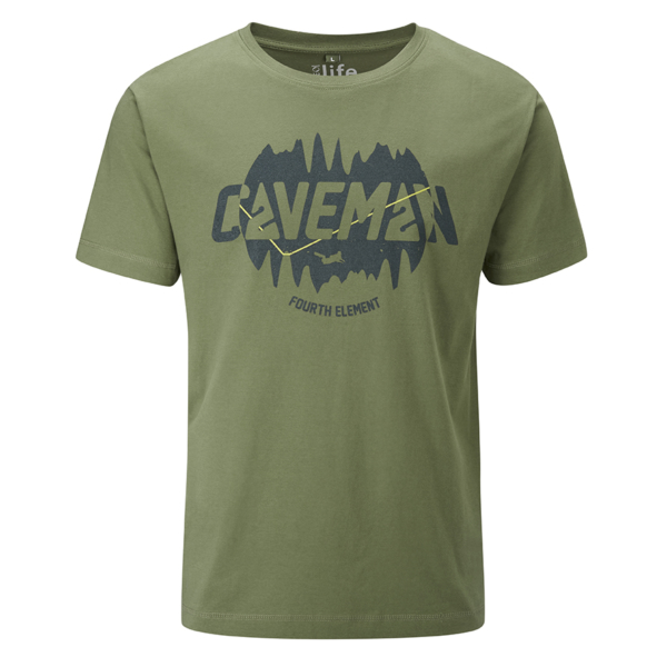 - صورة CAVEMAN T-SHIRT – forest green