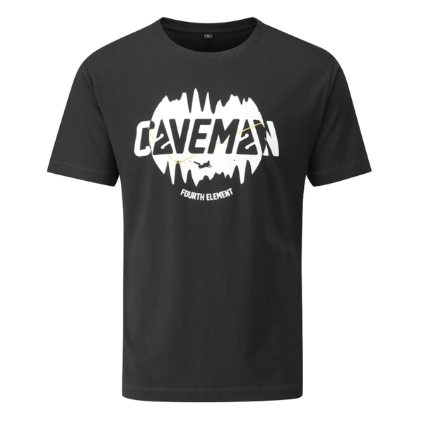 - صورة CAVEMAN T-SHIRT – black