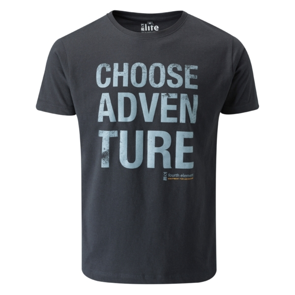 - صورة CHOOSE ADVENTURE T-SHIRT – black